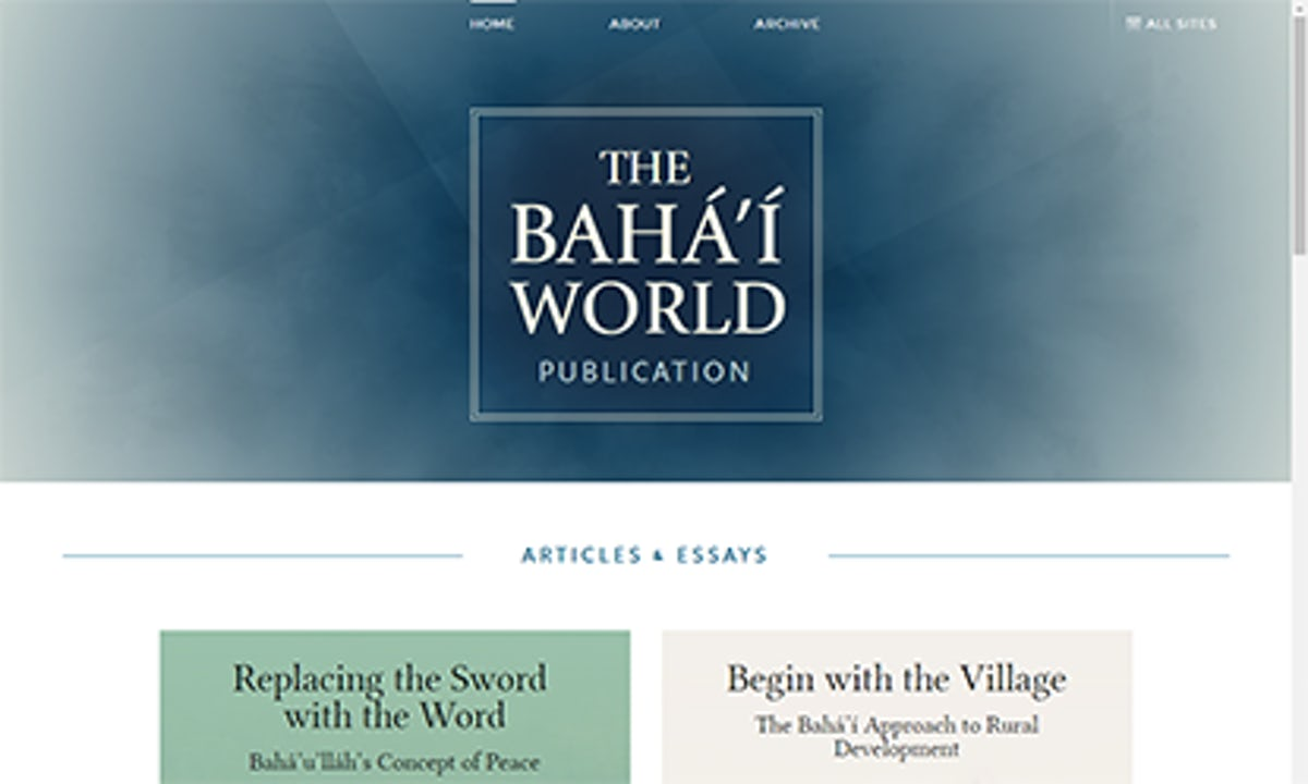 The Bahá'í World Publication