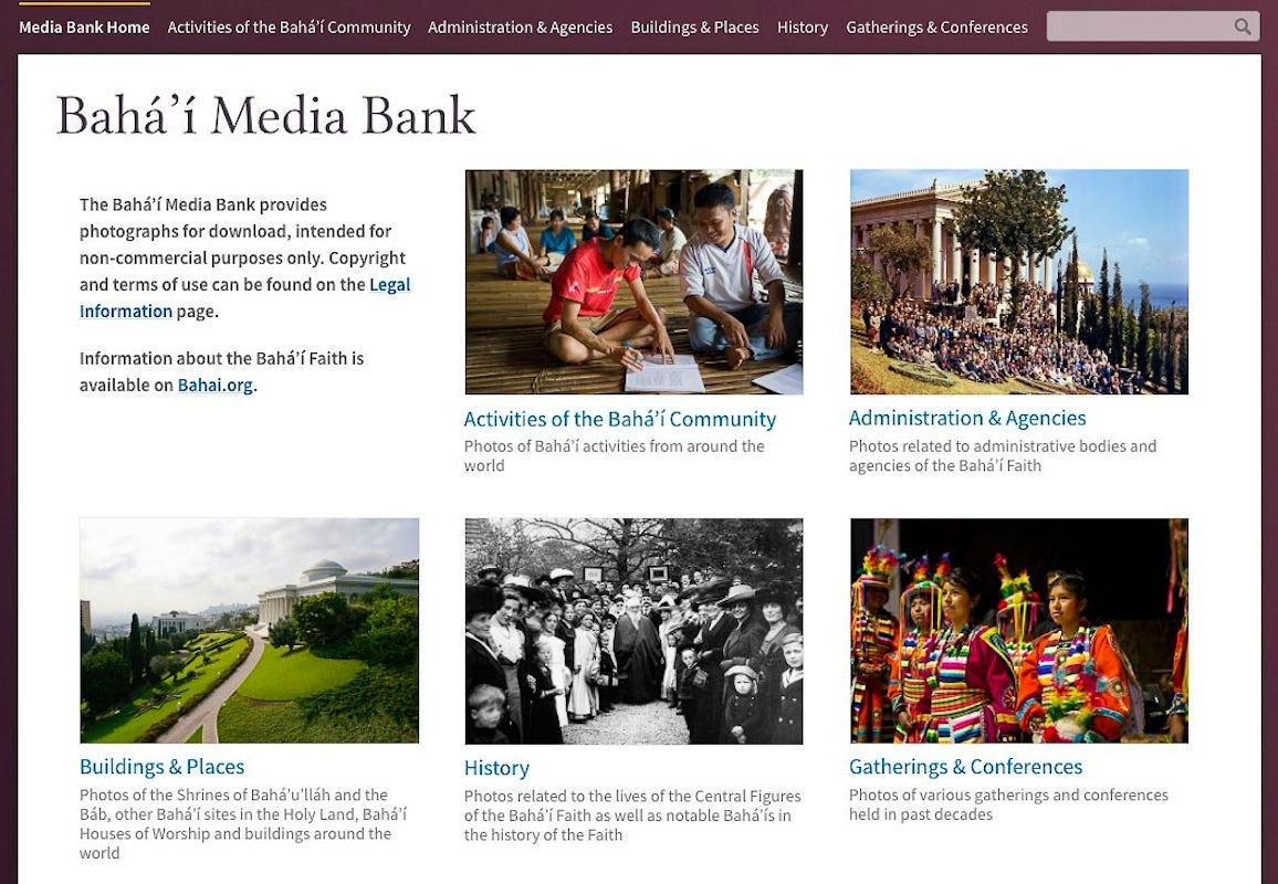 Bahá'í Media Bank