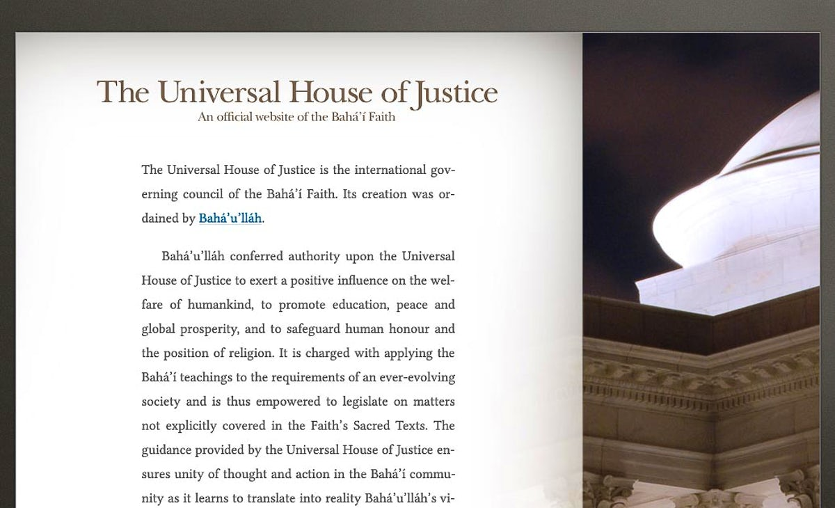 The Universal House of Justice