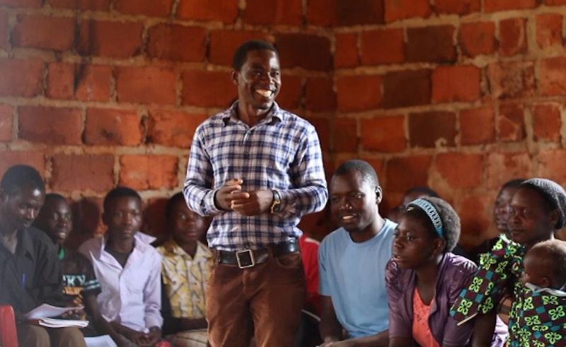 man participating and sharing