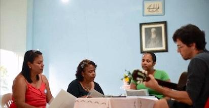 Répétitions pour les performances à Bahia au Brésil