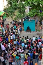 Spectacle de marionnettes en tournée à Madhya Pradesh, en Inde