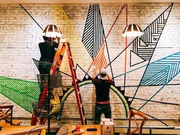 Une Murale prend forme à Hoboken aux Etats-Unis