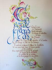 Calligraphies de certain des écrits bahá'ís