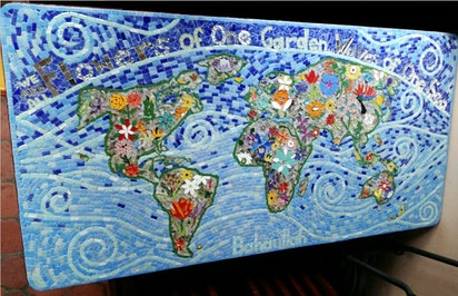 Mosaïque fait à Durban, en Afrique du Sud
